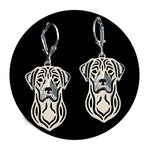 Load image into Gallery viewer, Labrador Retriever Sterling Silver Necklace Dangle Earrings Set by Ginger Lyne Lab Puppy Dog Pet Pendant Box Chain Doggie Animal Paw Print Heart Jewelry for Pit Mom Women Girls Teens