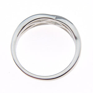 Lanie 5mm Solid Sterling Silver Crisscross Wedding Bridal Band Ring Ginger Lyne Collection