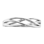 Load image into Gallery viewer, Lanie 5mm Solid Sterling Silver Crisscross Wedding Bridal Band Ring Ginger Lyne Collection