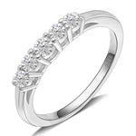 Load image into Gallery viewer, Le Sha Sterling Silver 5 Stone Anniversary Band Wedding Ring Ginger Lyne Collection