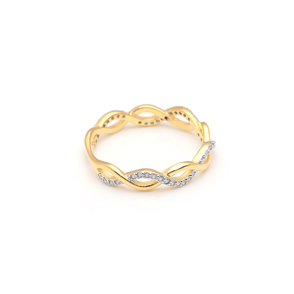 Ginger Lyne Collection Linda18Kt Gold Over Sterling Silver Anniversary Wedding Band Ring