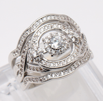 Load image into Gallery viewer, London Gorgeous 3 Ring Wedding Set - Ginger Lyne Collection