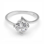 Load image into Gallery viewer, Marcella 2 Ct. 925 Sterling Silver Engagement Wedding Bridal Ring Cubic Zirconia Ginger Lyne Collection