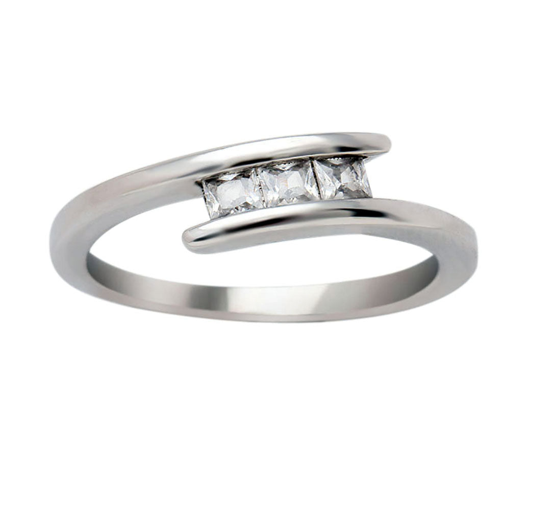 McKenna 3 Stone Anniversary Wedding Ring - Ginger Lyne Collection