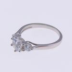 Load image into Gallery viewer, Noel Sterling Silver 3 Stone CZ Engagement Bridal Wedding Ring Ginger Lyne Collection