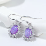 Load image into Gallery viewer, Created Opal CZ Sterling Silver Hook Earrings Ginger Lyne Luxury Collection
