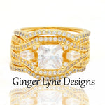Load image into Gallery viewer, Pat Exquisite 3 Ring Bridal Wedding Ring Set - Ginger Lyne Collection