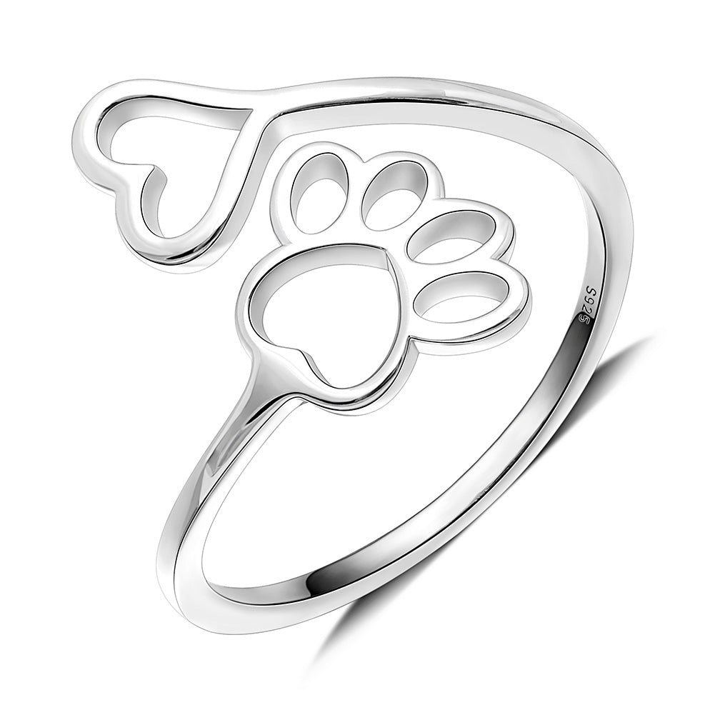 Cute Cat Kitten Ring Adjustable Cat Ring Cat Lover Gift Animal Ring Minimalist Silver Ring Cat Jewelry Sterling Silver Cat Ring