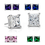 Load image into Gallery viewer, Princess Cut 6mm Stud Earrings- Ginger Lyne Collection