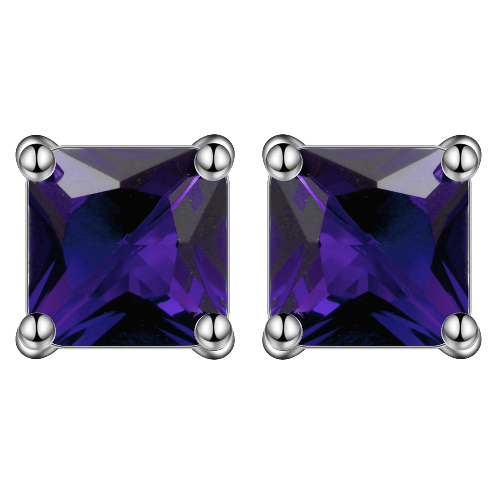 Princess Cut 6mm Stud Earrings- Ginger Lyne Collection