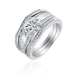 Load image into Gallery viewer, Rebecca Gorgeous 3 Ring Bridal Wedding Ring Set - Ginger Lyne Collection