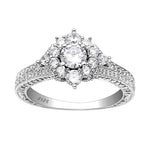 Load image into Gallery viewer, Selina 925 Sterling Silver Cluster Style Engagement Wedding Bridal Ring Cubic Zirconia Ginger Lyne Collection