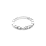 Load image into Gallery viewer, Shanti Solid Sterling Silver Rope Twist CZ Anniversary Wedding Bridal Band Ring Ginger Lyne Collection