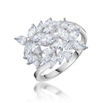 Load image into Gallery viewer, Ginger Lyne Collection Shai Lynn Marquise Flower Sterling Silver CZ Ring