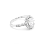 Load image into Gallery viewer, Ginger Lyne Collection Sherry Lynn Sterling Silver Oval CZ Engagement Bridal Ring