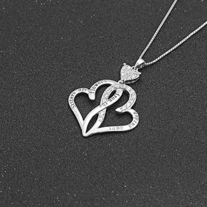 Heart Sister Elephant Necklace Sterling Silver Cubic Zirconia Engraved Always My Sister Forever My Friend 18 Inch Rolo Chain Plus Pendant Charm Love Jewelry Gifts For Women Girls Best Friend