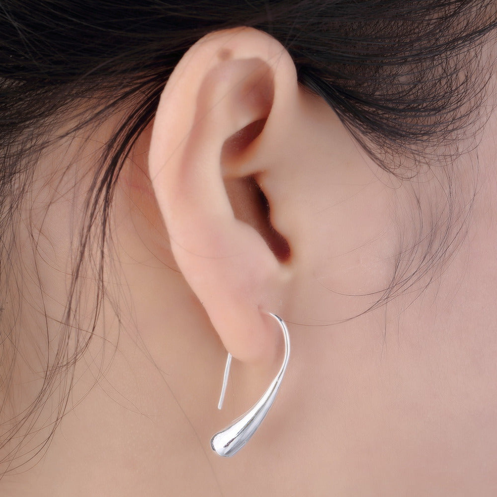 Teardrop Hook Simple Classic Earrings Ginger Lyne Collection