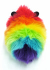 Bow the rainbow guinea pig stuffed animal plush toy back view.