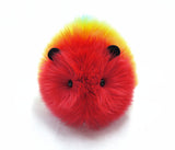 Bow the rainbow guinea pig stuffed animal plush toy front view.