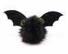 Fang the green eared black bat stuffed animal plush toy front view.