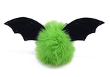 Beetle the lime green bat stuffed animal plush toy back view.