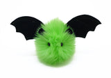 Beetle the lime green bat stuffed animal plush toy front view.