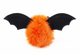Luna the Orange Bat Stuffed Animal Plush Toy back view.