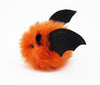 Luna the Orange Bat Stuffed Animal Plush Toy side view.
