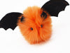 Luna the Orange Bat Stuffed Animal Plush Toy close up view.