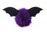 Bella the purple bat stuffed animal plush toy back view.