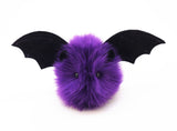 Bella the purple bat stuffed animal plush toy front view.