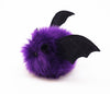 Bella the purple bat stuffed animal plush toy side view.
