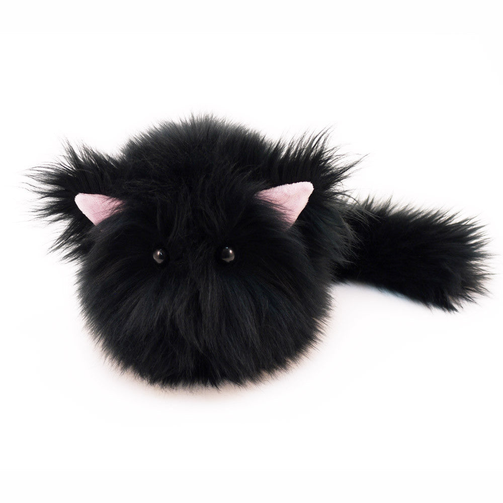 Poe The All Black Cat Stuffed Animal Plush Toy Fuzziggles