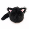 Poe the All Black Cat Stuffed Animal Plush Toy large size front view.