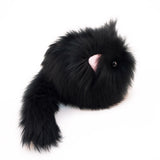 Poe the All Black Cat Stuffed Animal Plush Toy side view.