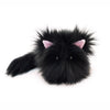 Poe the All Black Cat Stuffed Animal Plush Toy small size front view.