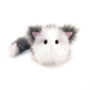 Buddy the grey and white cat stuffed animal plush toy front view.