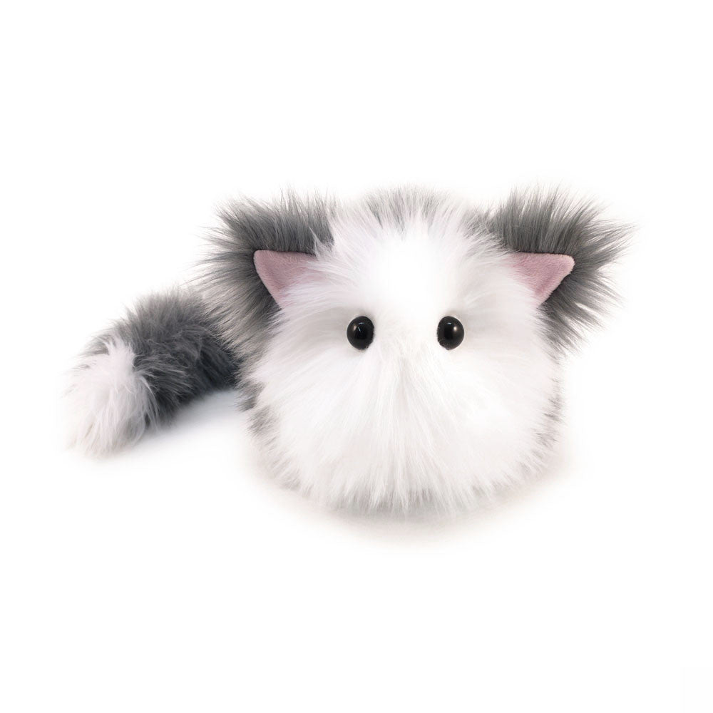 Buddy The Grey And White Cat Stuffed Animal Plush Toy Fuzziggles