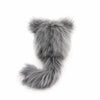 Buddy the grey and white cat stuffed animal plush toy back view.
