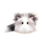 Buddy the grey and white cat stuffed animal plush toy small size front view.