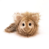Tiggy the Cream and Brown Striped Cat Stuffed Animal Plush Toy front view small size.