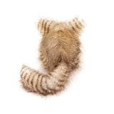 Tiggy the Cream and Brown Striped Cat Stuffed Animal Plush Toy back view.