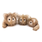 Tiggy the Cream and Brown Striped Cat Stuffed Animal Plush Toy group shot.