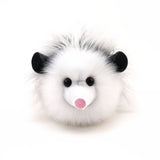 Penelope the Grey Opossum Stuffed Animal Plush Toy front view.
