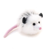 Penelope the Grey Opossum Stuffed Animal Plush Toy angled view.