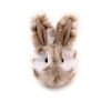 Peanut the tan and white spotted bunny stuffed animal plush toy front view.