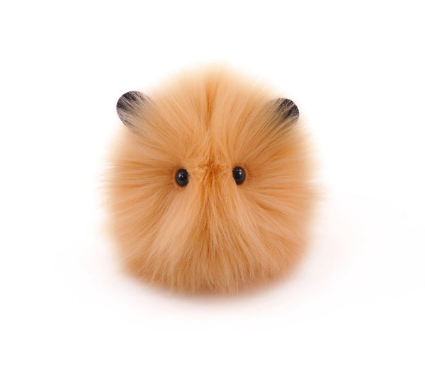 Honey the tan guinea pig stuffed animal plush toy front view.