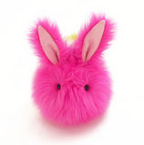 Girly the rainbow bunny stuffed animal plush toy front view.