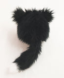 Tuffy Tuxedo the Black and White Cat Stuffed Animal Plush Toy back view.