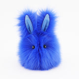 Blueberry the Royal Blue Easter bunny plush toy.